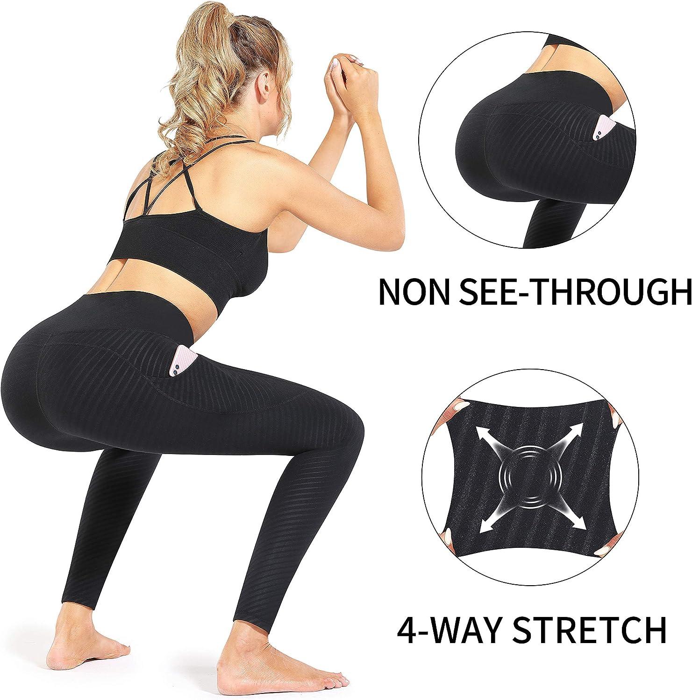 Yoga Pants with Pockets Tummy Control Workout Pants Pocket Leggings CUGOAO High Waist Yoga Pants
