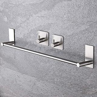 comprar comparacion ZUNTO Toallero con 2 Ganchos Adhesivo Toalleros Barra Para Baño Acero Inoxidable 40cm