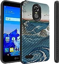 Untouchble Case for LG Stylo 3, LG Stylo 3 Plus Case [Stripe Force] Black Slim Textured Case Shock Resistant Edges with Design - Zen Wave