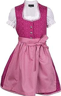 Ramona Lippert Kinder Dirndl für Mädchen - Kinderdirndl Charlotta in Pink - 3-teiliges Trachtenkleid - Trachtenmode - Tracht mit Schürze
