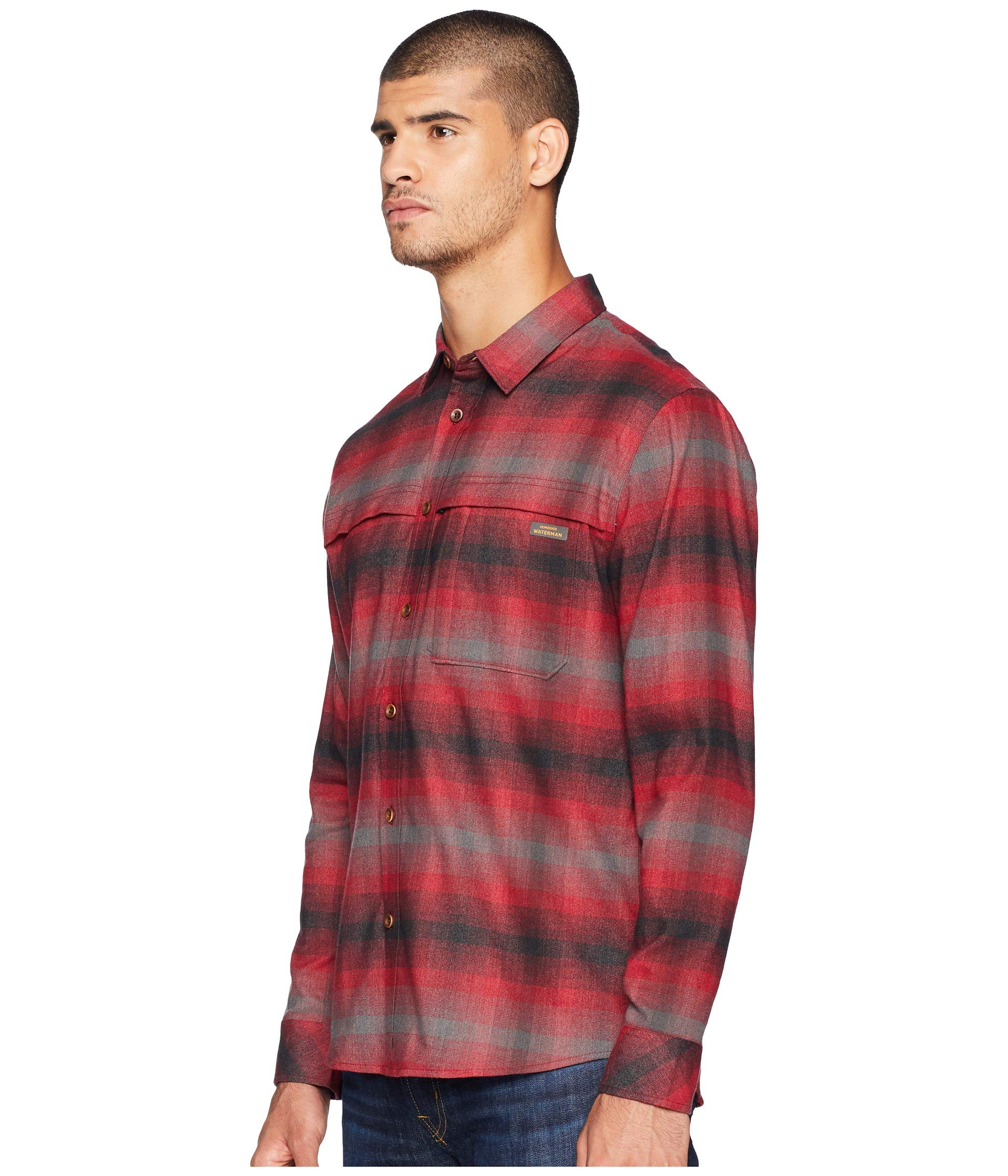 Sleeve Hyper Quiksilver Shirt Red Long Thermo Rio Flannel Waterman xEEwzvqZCX