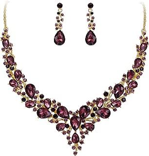 burgundy necklace set