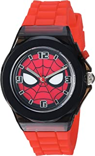 Marvel Spider-Man Kids' SPD9031 Analog Display Analog Quartz Red Watch