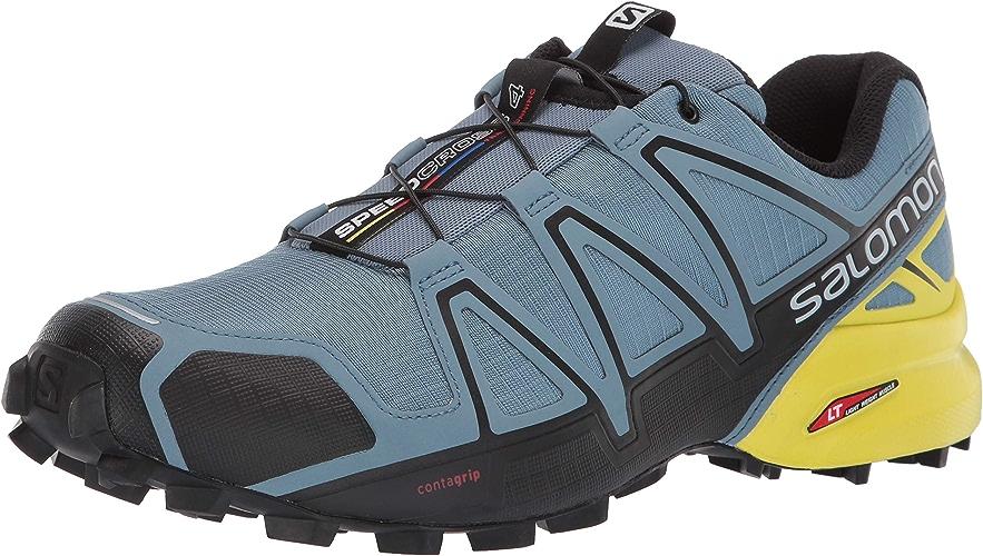 Salomon Homme Speedcross 4, Chaussures de Trail Running, Bleu (bleustone noir Sulphur Spring), Pointure  47 1 3