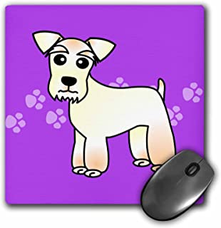 "3dRose Cute Miniature Schnauzer Wheaten Coat - Purple with Pawprints Mouse Pad, 8"" x 8"" (mp_40895_1)"
