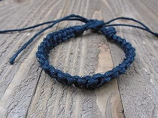 BEACH HEMP JEWELRY Black Anklet Bracelet Handmade In USA Adjustable