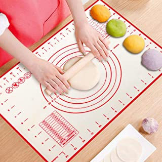 ProAussie Large Silicone Baking Mat for Rolling Dough (40cmx60cm) Pastry Mat with Measurements Extra Thick Non Stick Fonda...