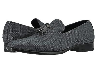 Stacy Adams Tazewell Plain Toe Slip-On (Gray/Black) Men