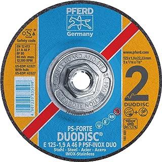 PFERD 61819 Flared Type 11 Cup Wheel Pack of 2 6300 RPM Zirconia Alumina Z 6 x 4-3//4 Diameter 5//8-11 Thread Size