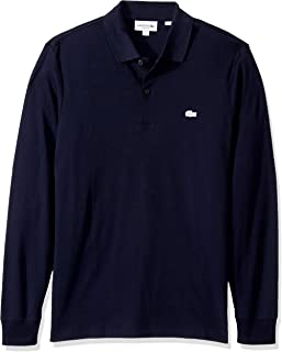 Lacoste Mens Long Sleeve Interlock Pima Regular Fit Polo Shirt