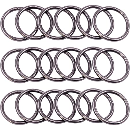 4 Color Rustark 120 Pcs 1 Inch//25mm Metal D Ring Assortment Multi-Purpose Metal Webbing Buckle Semi-Circular D-Rings for Purse Keychains Belts and Dog Leash Hand DIY Accessories