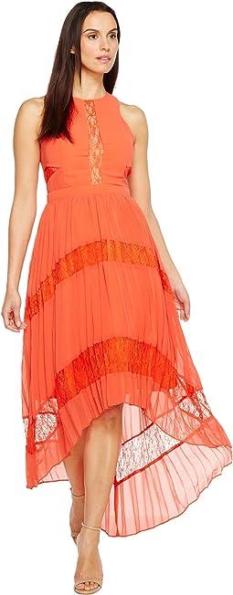 Irina Woven Pleated Dress
