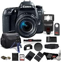 Canon EOS 77D DSLR Camera 18-55mm Zoom Lens 24.2 MP CMOS - Pro Bundle - International Version