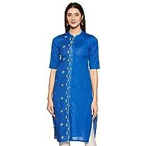 [Size L] Indigo Women's Cotton Kurta