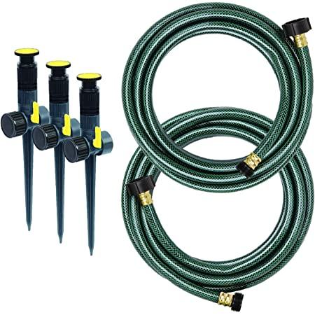 Melnor 95548-IN Multi-Adjustable Garden Above Ground Sprinkler System Kit, Watering Set