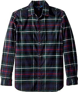 Polo Ralph Lauren Kids - Tartan Cotton Flannel Shirt (Big Kids)