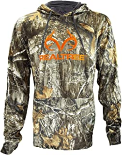 Realtree Edge Camo Tech Pull-Over Hoodie Large Logo Design, Outdoor, Hunting