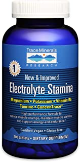 Electrolyte Stamina Tablets, 300 Tabs by Trace Minerals (Pack of 2)