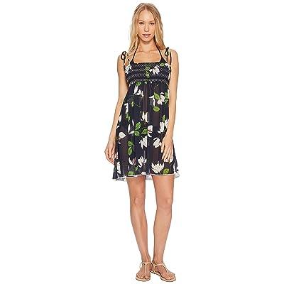 Robin Piccone Elisa Sheer Babydoll Dress Cover-Up (Midnight Multi) Women
