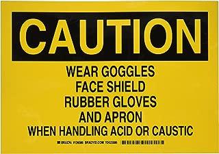 Brady 126086 Chemical Hazard Sign, Legend