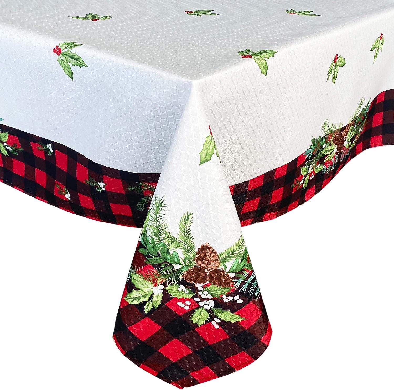 Lintex Aspen Red Black Plaid Garland Tabl Christmas Gorgeous and Bordered Cheap sale