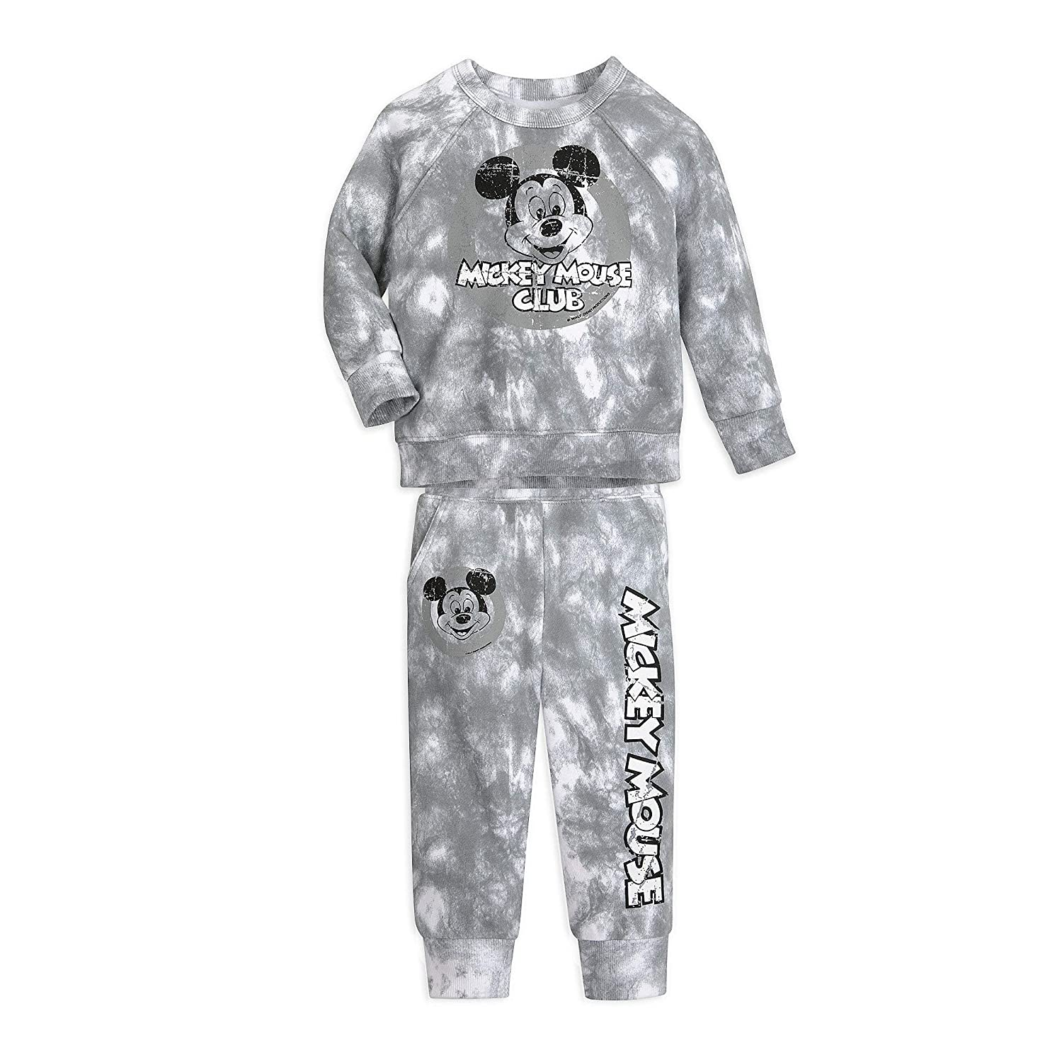 Disney Mickey Mouse Tie-Dye Sweatshirt and Pants Set for Baby, Size 3-6 Months