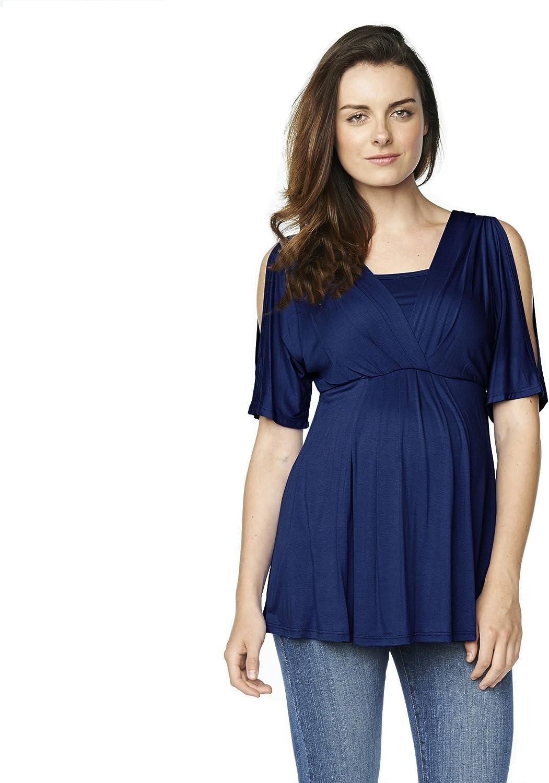 Maternal America Womens Split Sleeve Maternity Nursing Top Nursing Blouse