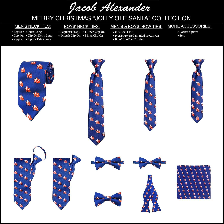 Jacob Alexander Boys' Merry Christmas Jolly Ole Santa Adjustable Pre-Tied Banded Bow Tie