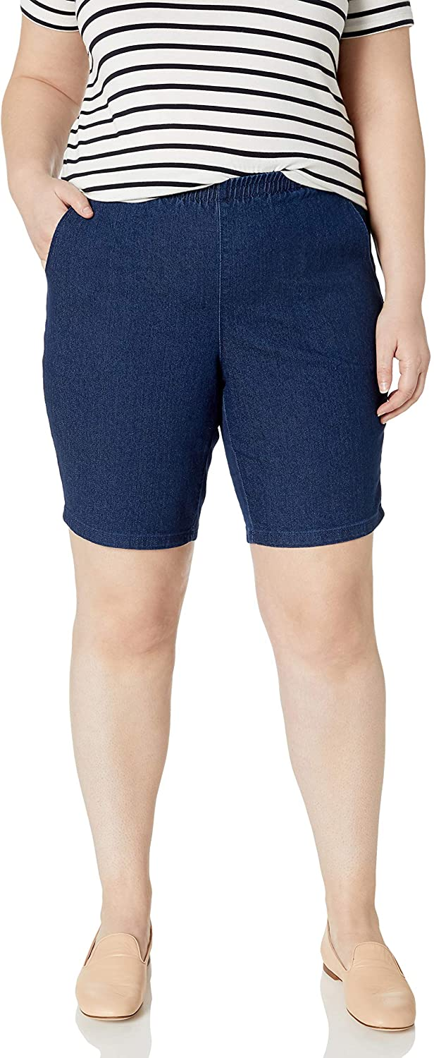 JUST MY SIZE Women's Plus Size 2 Pocket Pull on Short
