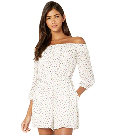 BCBGeneration Off Shoulder Romper TGM9214582 (Off-White) Women