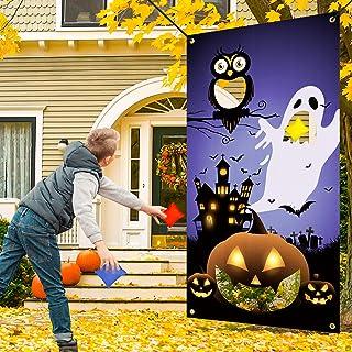 JETEHO Halloween Bean Bag Toss Game with 4 Bean Bags, Pumpkin Bean Bag Toss Games, Throwing Games for Kids Halloween Games...