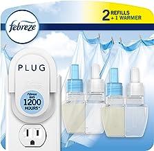Febreze Odor-eliminating Plug Air Freshener, Linen & Sky, 1 Warmer + 2 Oil Refills