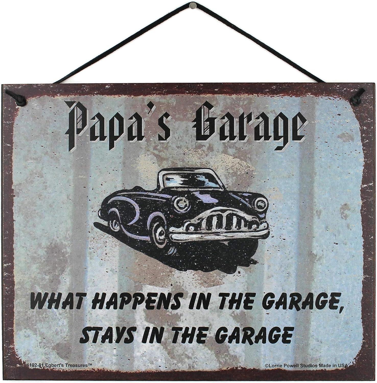 "TIN SIGN /""Grandpaw Garage"" Mechanic Humor Tools Cars Mancave Vintage Rustic Deco"