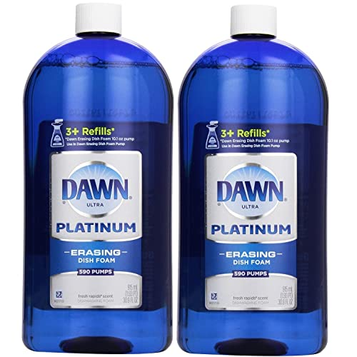 Dawn Platinum Erasing Dish Foam, Refill, Fresh Rapids Scent, 30.9 Fluid Ounce (