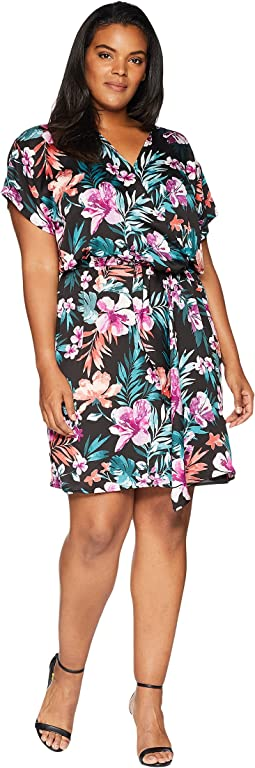 Plus Size Aniyah Twist Front Woven Dress