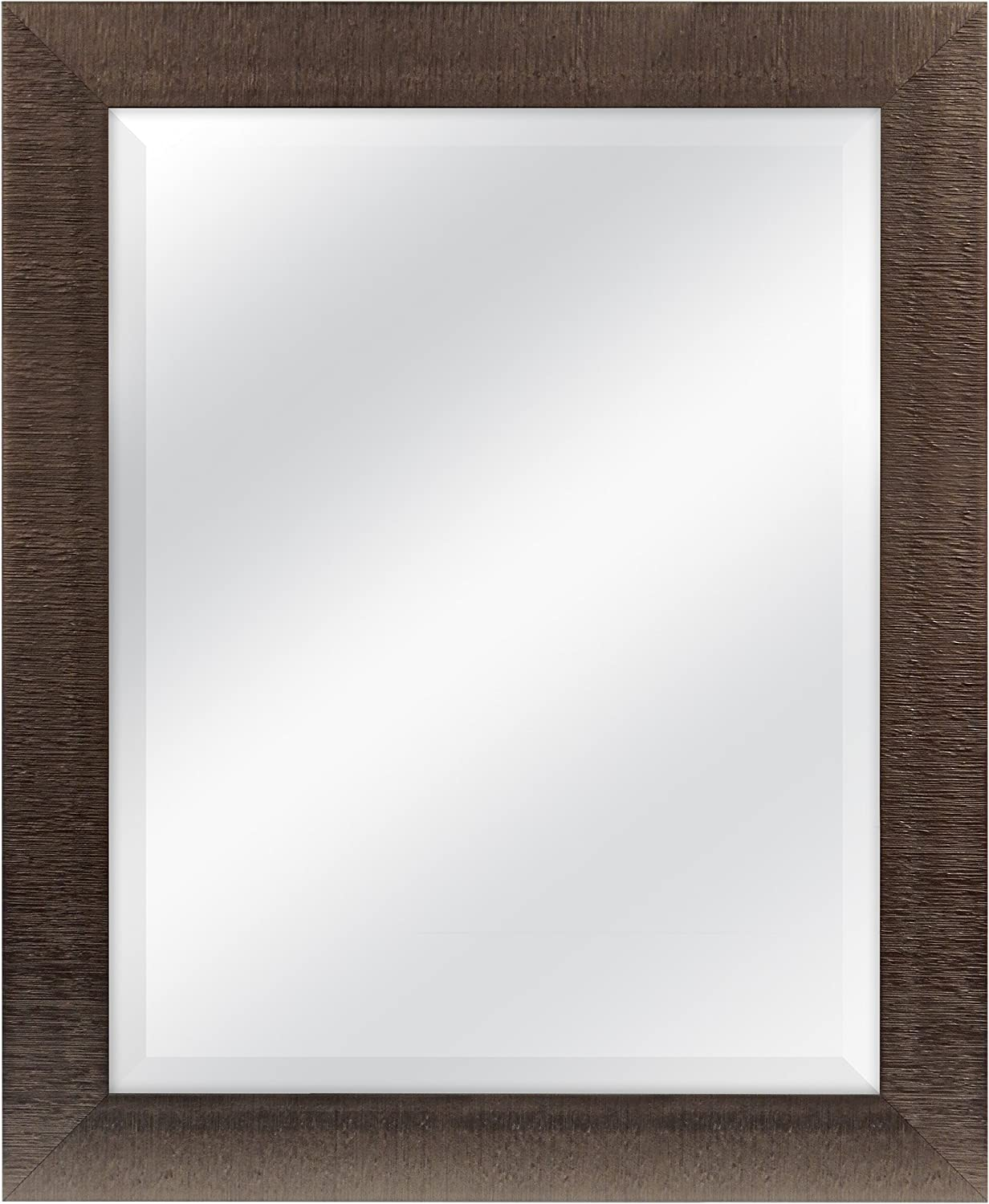 MCS 22 x28  Textured Mirror Outside Dimension is 27.5 x33.5  Bronze with Silver Accent Finish