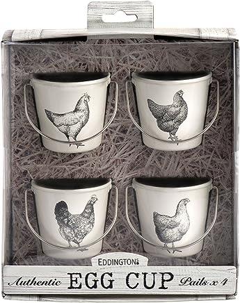 Preisvergleich für Eddingtons Vintage Hühner-Eierbecher, 4 Stück