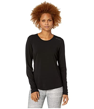 2XU Heat Long Sleeve Tee (Black/Black) Women