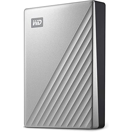 WD 5TB My Passport Ultra for Mac Silver Portable External Hard Drive HDD, USB-C and USB 3.1 Compatible - WDBPMV0050BSL-WESN