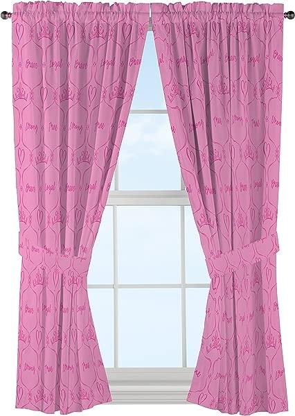 Jay Franco Disney Princess Friendship Adventures 63 Decorative Curtain Drapes 4 Piece Set 2 Panels 2 Tiebacks