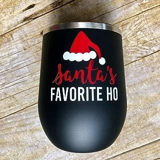 Best santa's favorite ho wine glass Reviews