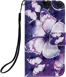 Positive Cover Compatible with Samsung Galaxy Note 10, butterflys PU Leather Wallet Flip Case for Samsung Galaxy Note 10