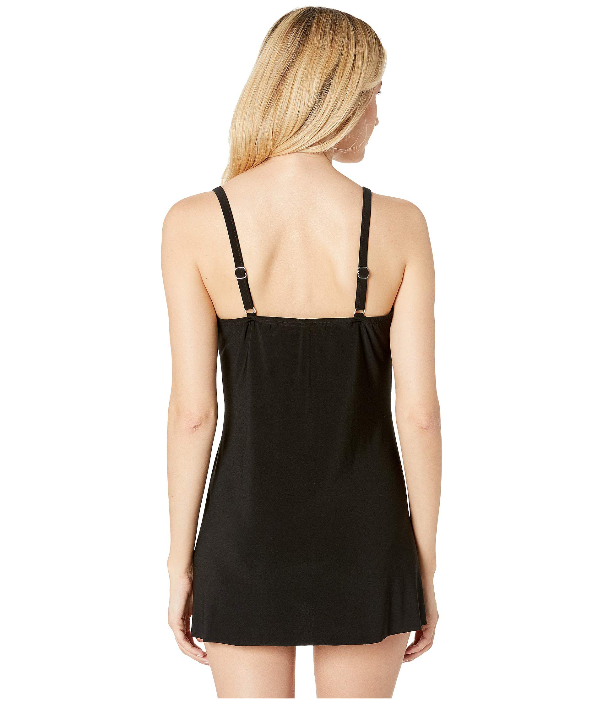Black Miraclesuit Solid Swimdress piece One Rock Lovey x0qw7CpS