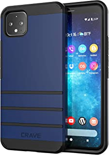 Pixel 4 XL Case,  Crave Strong Guard Heavy-Duty Protection Series Case for Google Pixel 4 XL - Navy