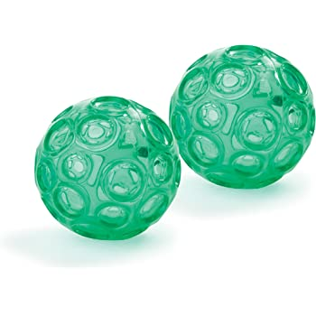 OPTP Franklin Textured Ball Set - 2 Inflatable Exercise Balls (LE9001)