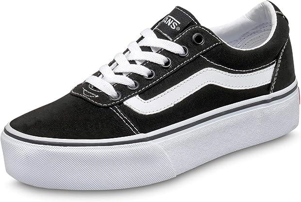 Scarpe vans ward platform canvas, sneaker donna VA3TLC
