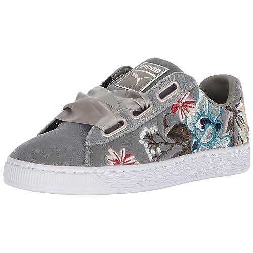 the best attitude bb763 922b7 PUMA Basket Heart Shoes: Amazon.com
