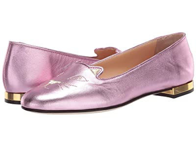 Charlotte Olympia Soft Kitty Flats (Pink) Women