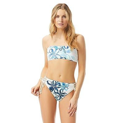 Carmen Marc Valvo Fleur Fresca Ruched Bandeau Bikini w/ Removable Soft Cups