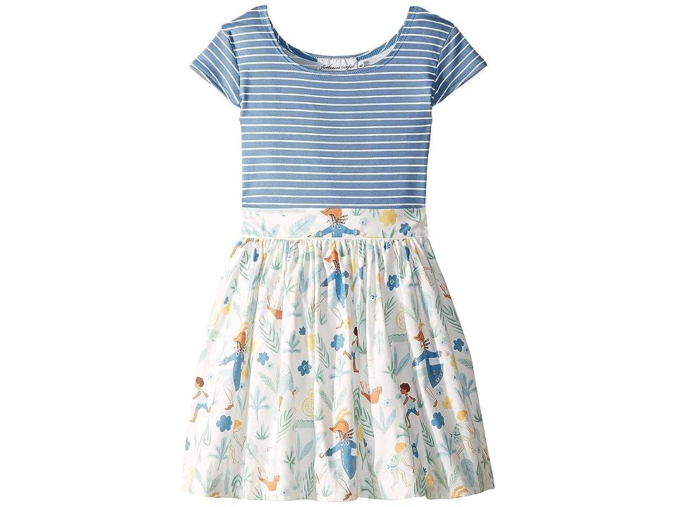 fiveloaves twofish Big Adventure Dress (Toddler/Little Kids/Big Kids) (Blue) Girl